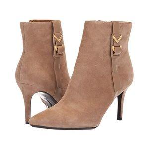 Calvin Klein Grace Kid Suede Stiletto Booties 8.5
